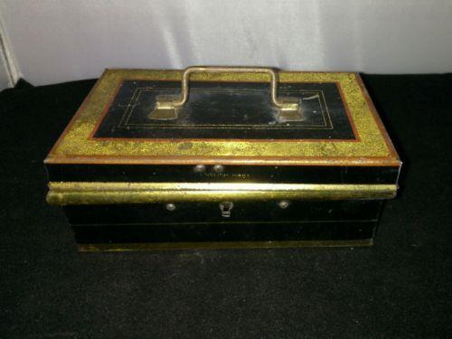 Antique cash tin box. #money tin. #vintage #english #money tin. ,  View more on the LINK: http://www.zeppy.io/product/gb/2/232213051828/