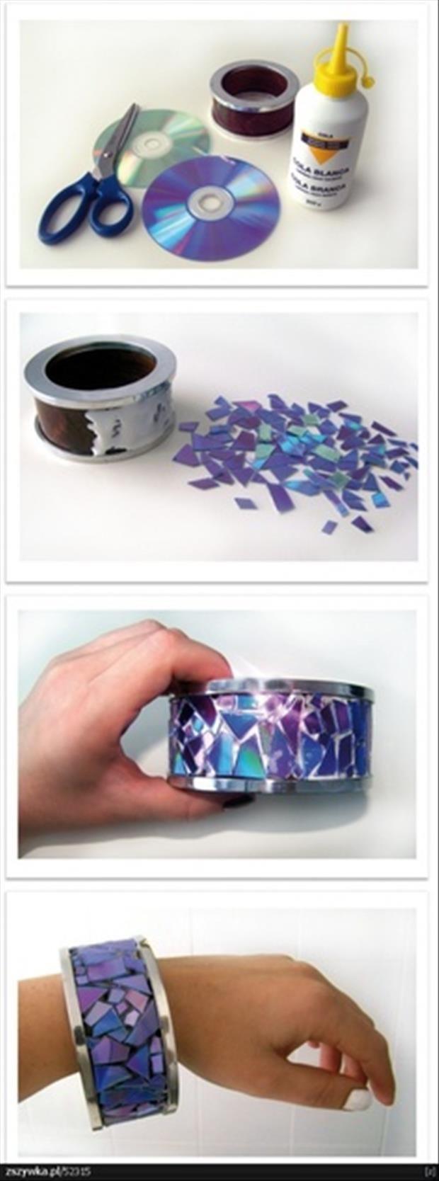 DIY CD Bracelet