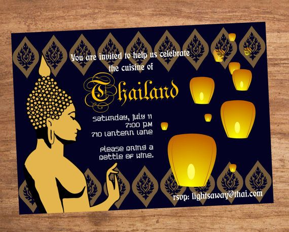 I really like this one. It comes in different colors too and its nice and affordablehttps://www.etsy.com/listing/104232764/thai-food-dinner-party-invitation