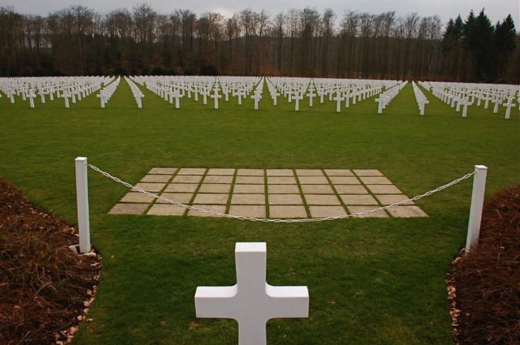 Luxembourg Memorial Grave site where General George S. Patton still looks out over his men.