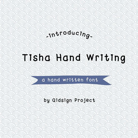 Tisha Hand Writing Digital font-hand written by qidsignproject