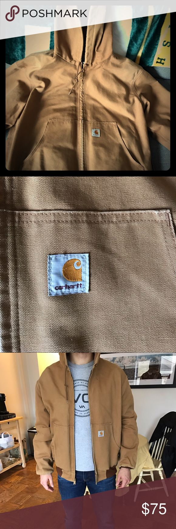 Carhartt Dark Khaki Winter Jacket Lightly worn Men's Carhartt winter jacket. Ultra warm, durable and perfect for those who work outdoors year round. Bought a few years ago but has been sitting in the closet and collecting dust. Small stain spot in lower right hand side of jacket mear zipper otherwise in great condition. Jackets & Coats