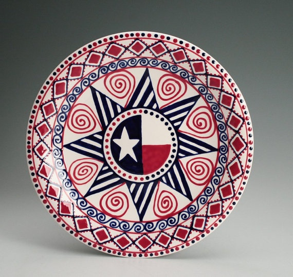 Happy 4th of July - I love making plates and bowls inspired by the American flag & 40 best July 4th Ideas images on Pinterest | Painted plates Ceramic ...