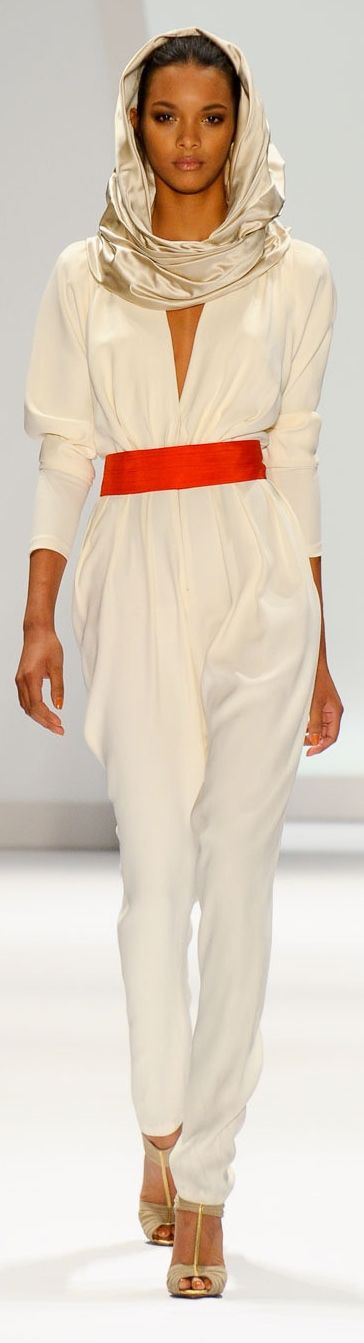 Carlos Miele - chic jumpsuit & scarf style