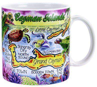 Map Of Teh Caribbean Islands Large Coffee Mug