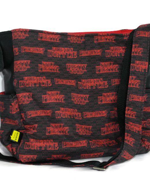Slouchy Hobo Bag  - #Stranger Things fabric -  Netflix - Geeky gift - Strange Things handbag