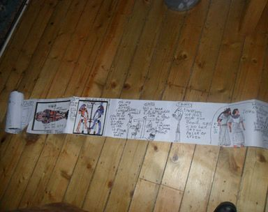 how to make an egyptian scroll