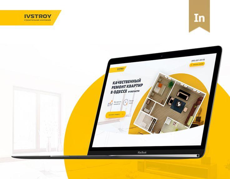 """다음 @Behance 프로젝트 확인: """"Ivstroy - Landing Page"""" https://www.behance.net/gallery/37780555/Ivstroy-Landing-Page"""
