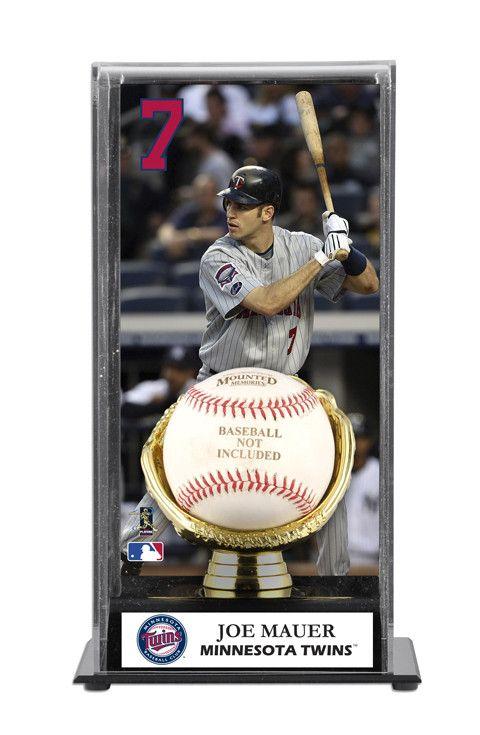Joe Mauer Minnesota Twins Baseball Display Case with Gold Glove & Plate