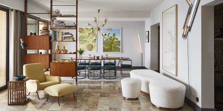 A young design firm combines playful touches and sophisticated design in a '70s era apartment in Monaco.