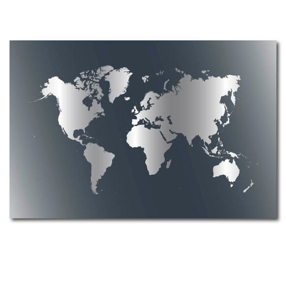 Best 25 large world map poster ideas on pinterest world map large world map poster gray download world map by sunnyrainfactory gumiabroncs Images