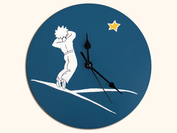 Hey, I found this really awesome Etsy listing at https://www.etsy.com/listing/223931356/wall-clock-the-little-prince-le-petit