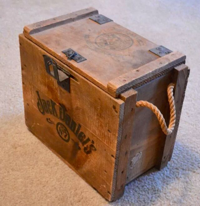 Vintage Jack Daniels Crate Decorating Wooden Crates