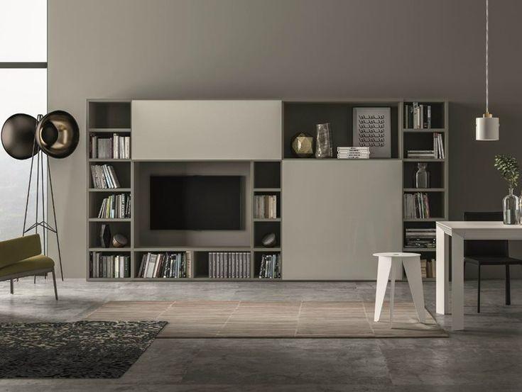 Parete attrezzata laccata SPEED V Collezione Speed by Dall'Agnese | design Imago Design, Massimo Rosa