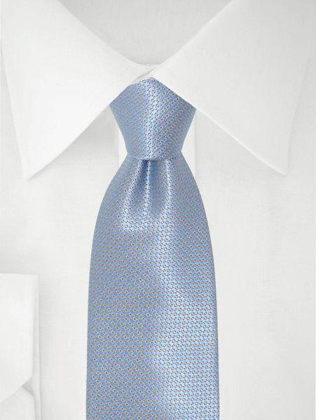 Blau hellblau gepunktete Krawatte