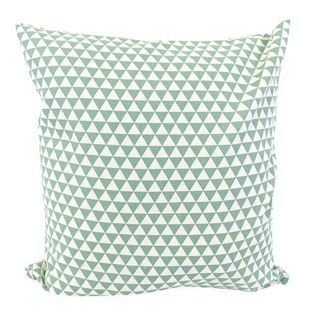 Green Geo Pattern Cushion