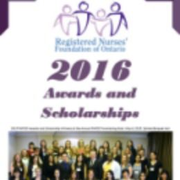2016 RNFOO Scholarships for Registered Nurses and nursing students in Ontario to further their educational studies, conduct nursing and health care research, and support community health initiatives and applications are open by December 15, 2015.  The on-line portion of the application process must be completed by 4:00 pm ET Monday, January 18, 2016.  Supplementary documents must be received by the RNFOO office by4:00 pm ET Friday, February 5, 2016.