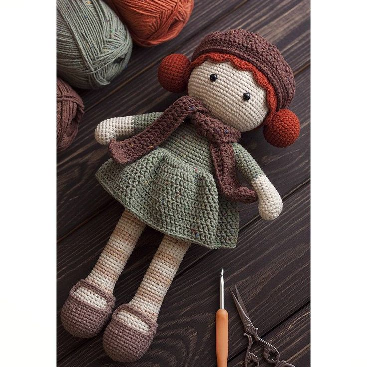 Crochet doll, amigurumi. Handmade doll. Вязаная кукла ручной …