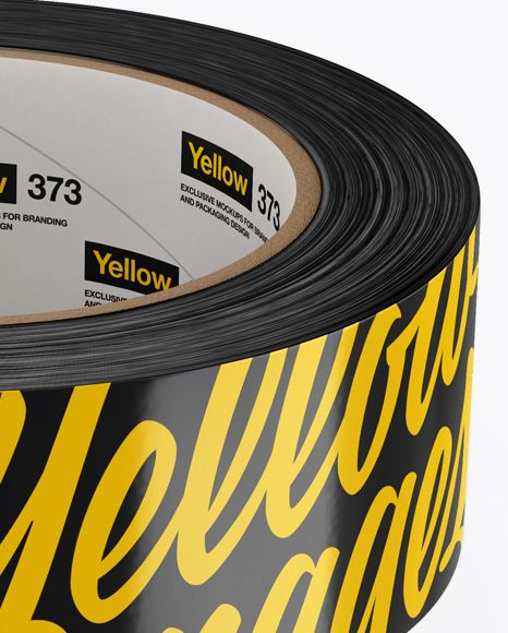 Two Glossy Duck Tape Rolls Mockup (High-Angle Shot)
