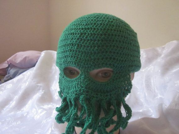A cthulhu hat, cthulhu mask, monster costume, Lovecraft monster cosplay