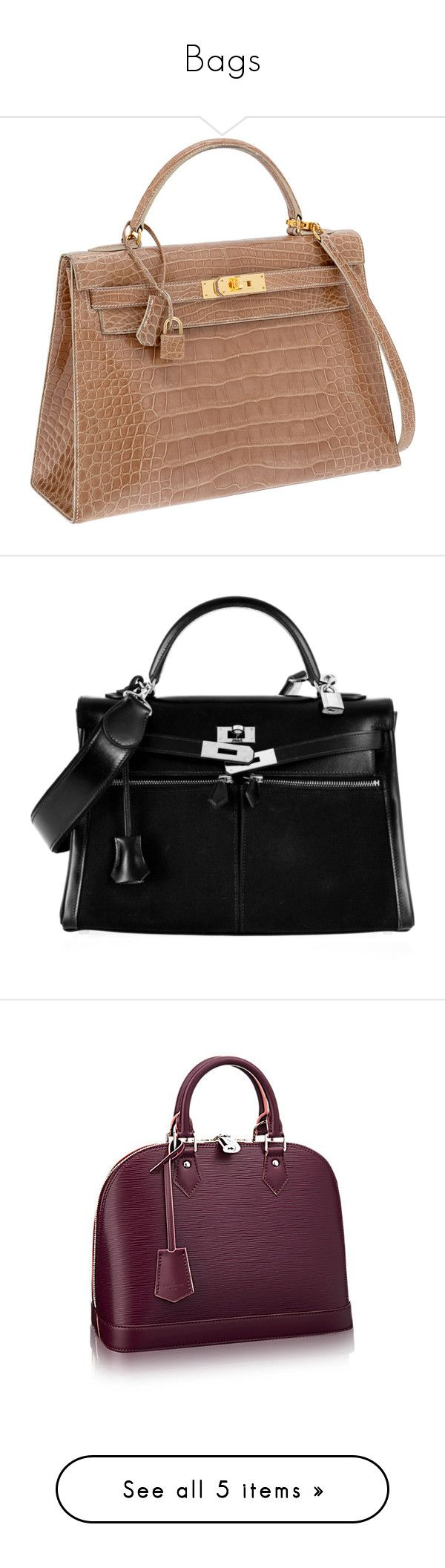 """""""Bags"""" by aitanas-closet ❤ liked on Polyvore featuring accessories, bags, purses, hermès, handbags, black bags, bolsos, hermes purse, hermes bag and silver purse"""