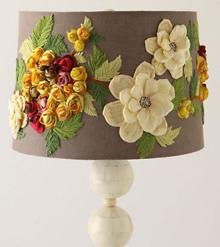 Floral Anthropologie Lampshade  #Anthropologie
