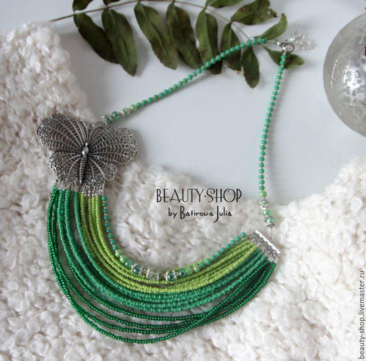 Necklace - necklace, butterfly, julia batirova, autumn, autumn fashion, winter, jewelry