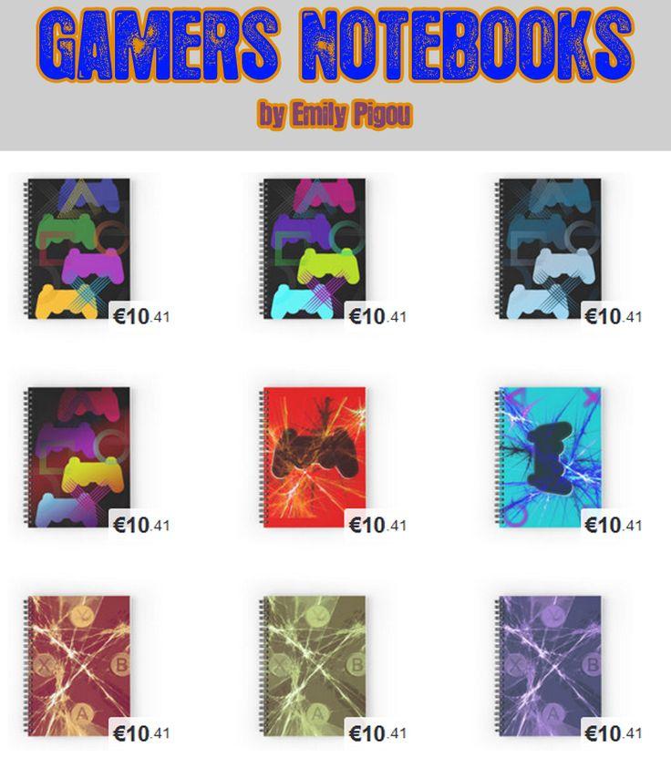 Gamers Notebooks by Emily Pigou #notebook #buynotebook #office #officegifts #stationery #buystationery #school #schoolnotebook #coolnotebook #giftsforkids #highschoolgifts #giftsforwriters #writersjournal  #writersnotebook #giftsforhim #giftsforher #teenager #teenagergifts #gaming #gamers #gamersgifts #xbox #ps3 #buygaminggifts #geek #nerd #geekgifts #nerdgifts #gaminggeek #gamer