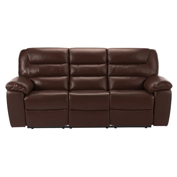 Two Tone Brown Leather Sofas 3 Seater