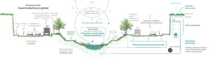Proyecto Río la Piedad y Ciudad Deportiva Relación con el agua
