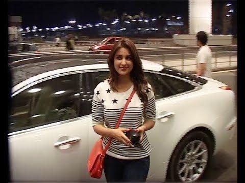 Parineeti Chopra at Mumbai Airport leaving for IIFA Awards 2014.