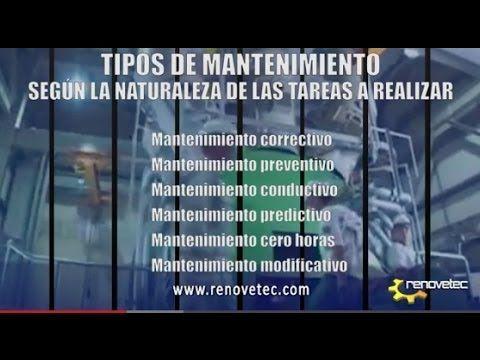 DIFERENTES TIPOS DE MANTENIMIENTO