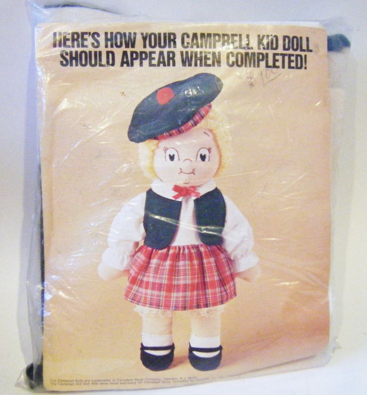 Vintage Campbell Soup Company Promotional Campbell Kid Girl Doll Making Craft Kit New In Package by parkledge on Etsy