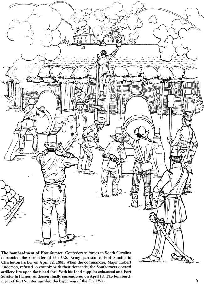 story of the civil war coloring book - Civil War Coloring Pages Print