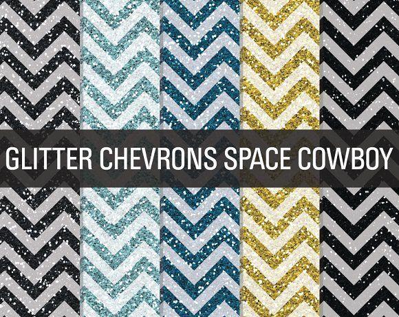 Glitter Chevron Textures Space by SonyaDeHart on @creativemarket