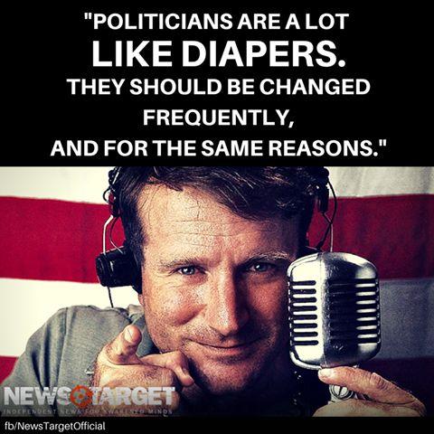 Robin Williams was never afraid to criticize politicians. #NaturalN…