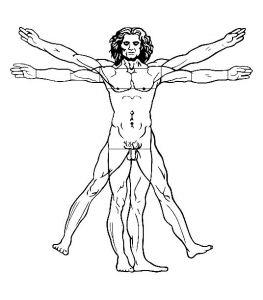 Display image coloriage-leonard-de-vinci-l-homme-de-vitruve-1492