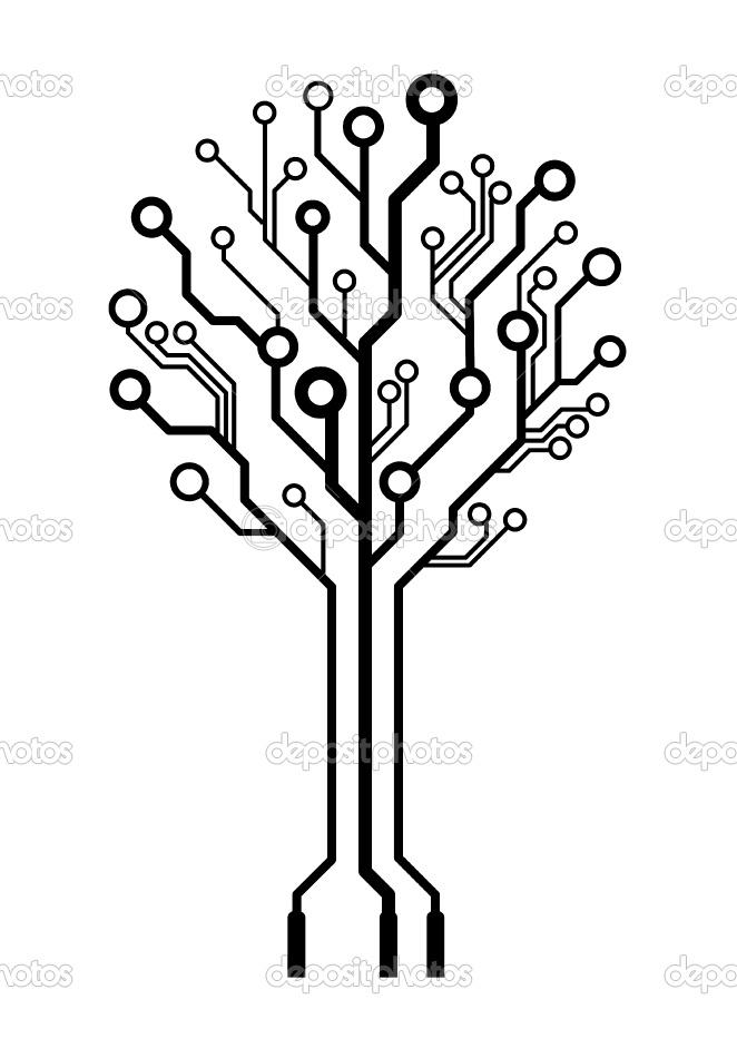 Simple circuit pattern