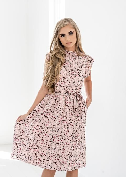 61b5c9db3432 Color Me Pink Floral Ruffle Dress use my code