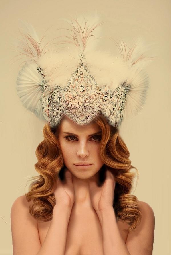Lana Del Rey headpiece by Konieczka- Fanart   Always wear your invisible crown!  Best accessory.