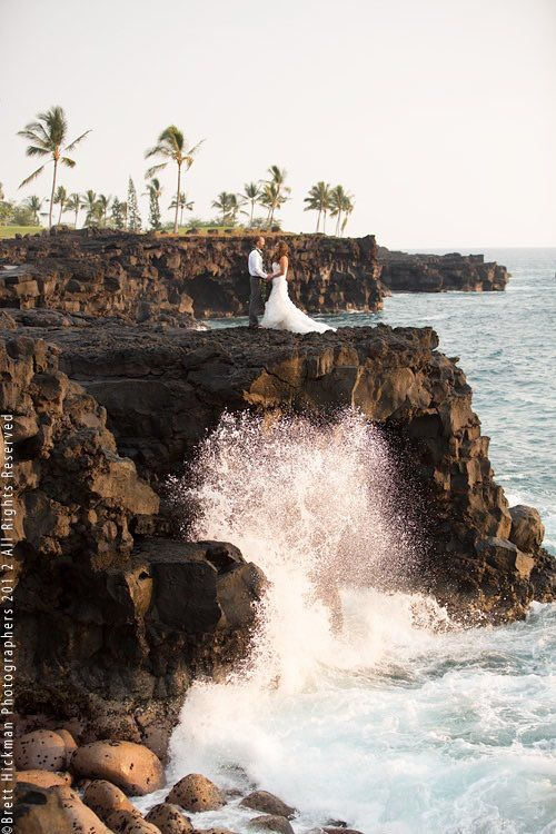 Imagine getting married on a cliff next to those crashing waves. How romantic! Photographer: Brett Hickman
