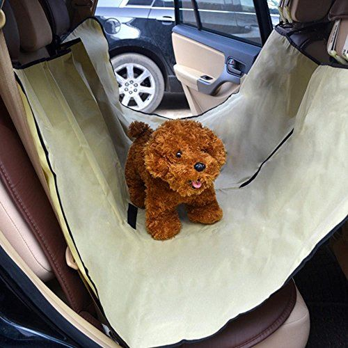 Waterproof Car Rear Back Seat Cover Protector Hammock Mat Blanket for Pet Dog Cat  Beige *** You can get more details by clicking on the image.