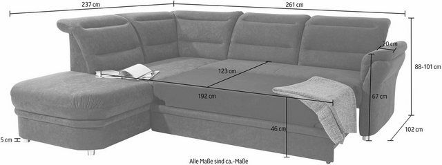 Ecksofa Mit Ottomane Inklusive Federkern Couch Furniture Home Decor