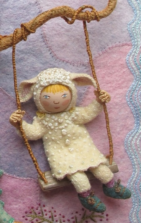 salley mavor = precious: Dolls Crafts, Wee Folk, Crafts Needle Felt, Salley Mavor, Dolls Art, Sally Mavor, Felt Written, Salleymavor, Weefolk