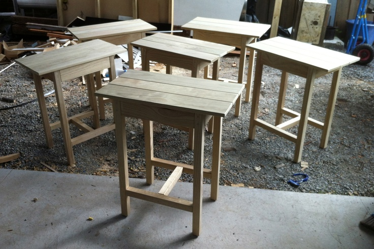 Cafe outdoor tables