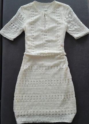 Kup mój przedmiot na #vintedpl http://www.vinted.pl/damska-odziez/sukienki-wieczorowe/14551286-kremowa-koronkowa-sukienka-hm-z-najnowszej-kolekcji-na-wesele
