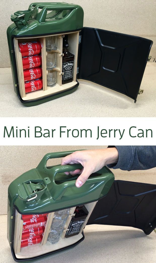 How to Make a Mini Bar From Jerry Can – #Bar #buil…