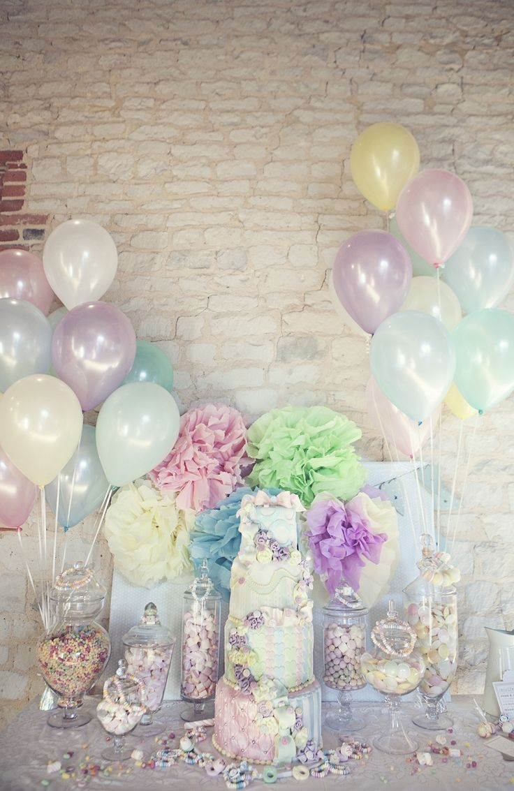 Steal this wedding idea for a christening, the colours are great.