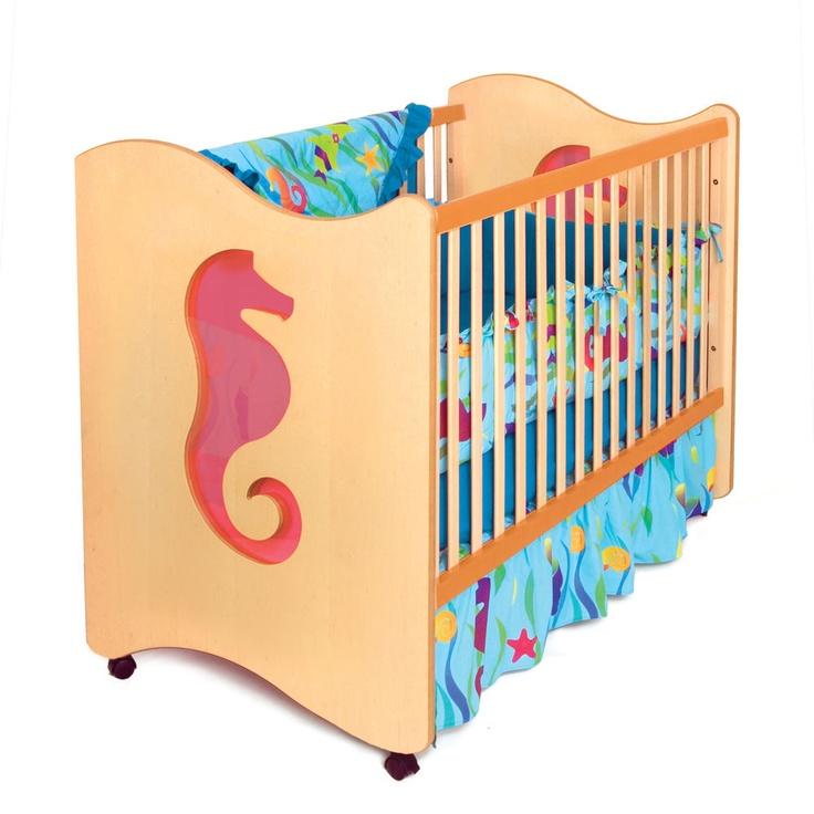 Room Magic Tropical Seahorse Crib / Toddler Bed