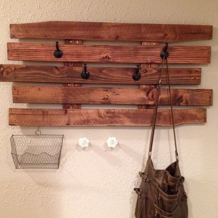 Recycled Pallet Wood Coat Rack